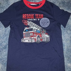 Fire Engine blue and red short sleeve shirt